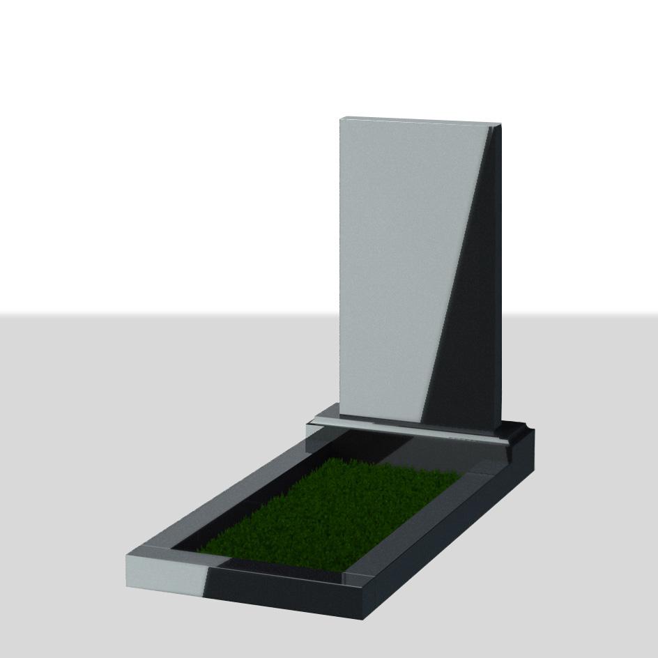 Вертикальный прямоугольный надгробный памятник №1