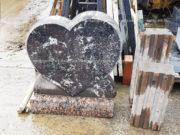 Изготовление памятника из гранита с надгробием в виде сердца