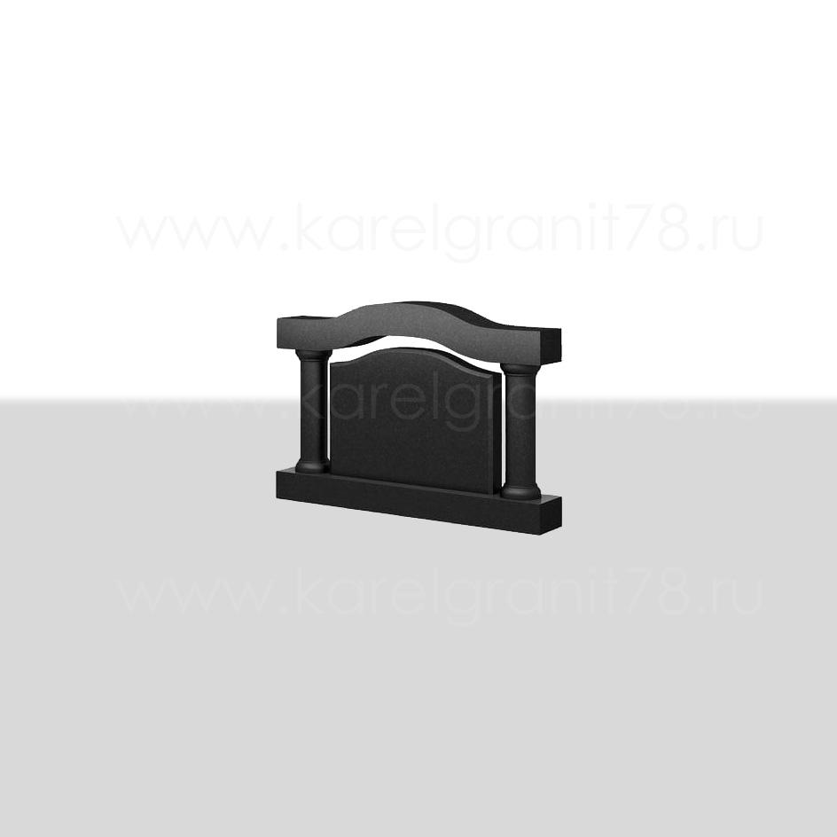 Горизонтальный памятник с полукруглой аркой №60