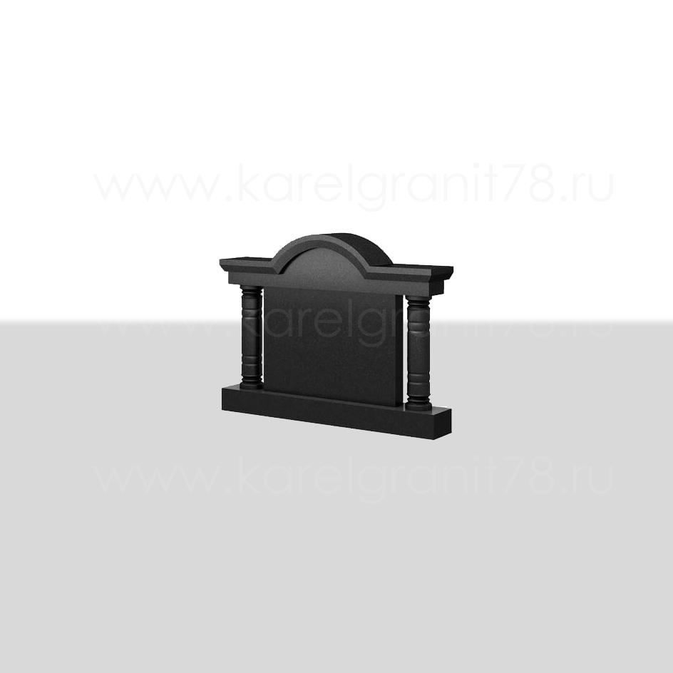Горизонтальный памятник с резной аркой №61