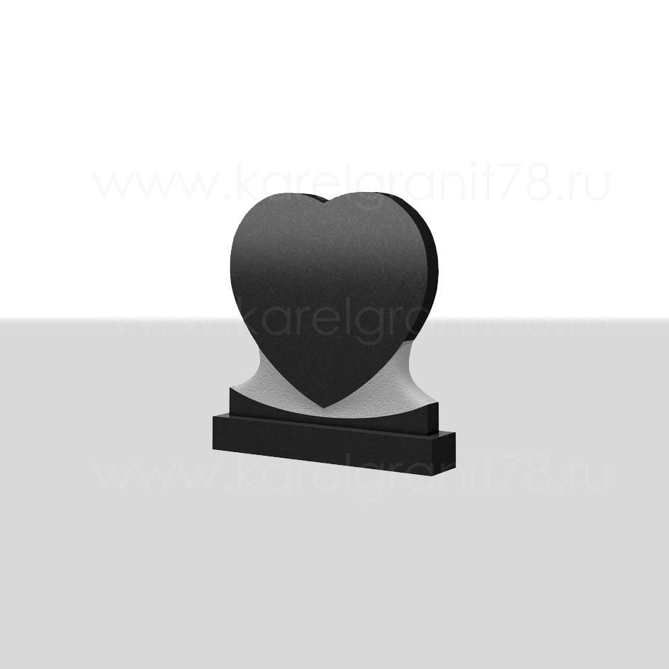 Горизонтальный памятник сердце симметричное №51