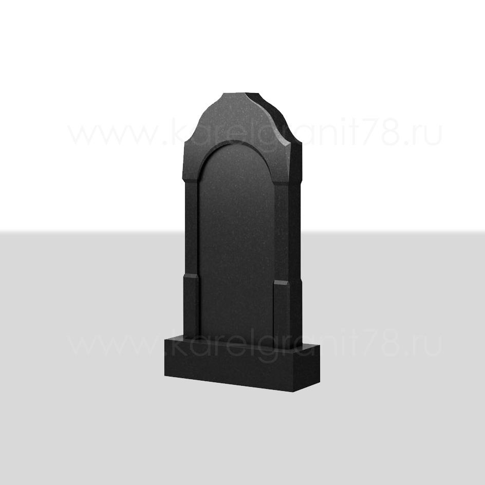 Вертикальный надгробный памятник с фигурной отделкой и переходом №101