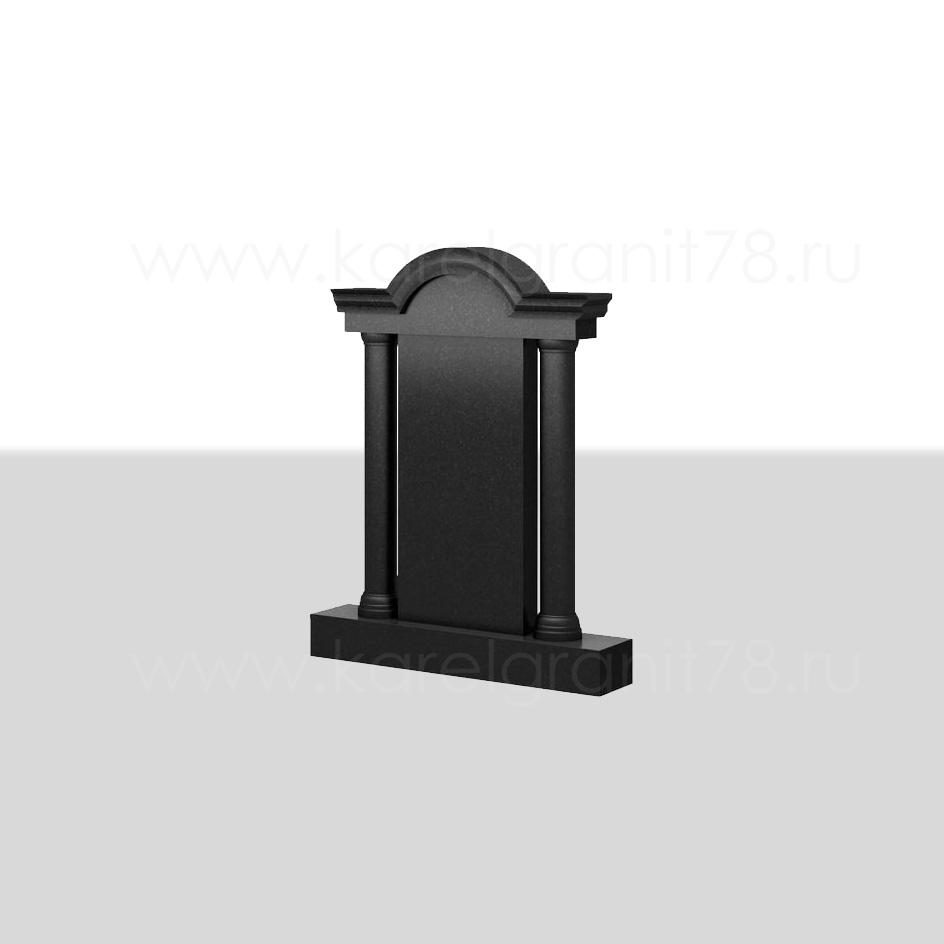 Вертикальный памятник с резной аркой №62
