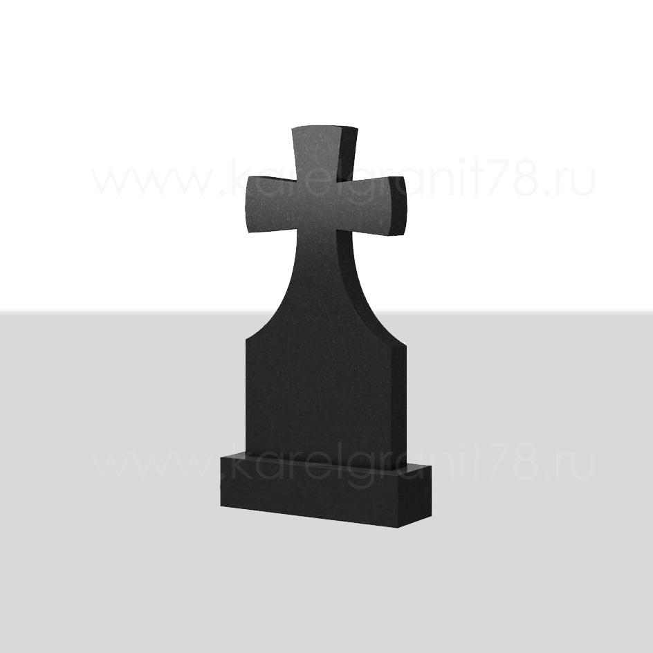Классический вертикальный памятник с симметричным крестом сверху №70