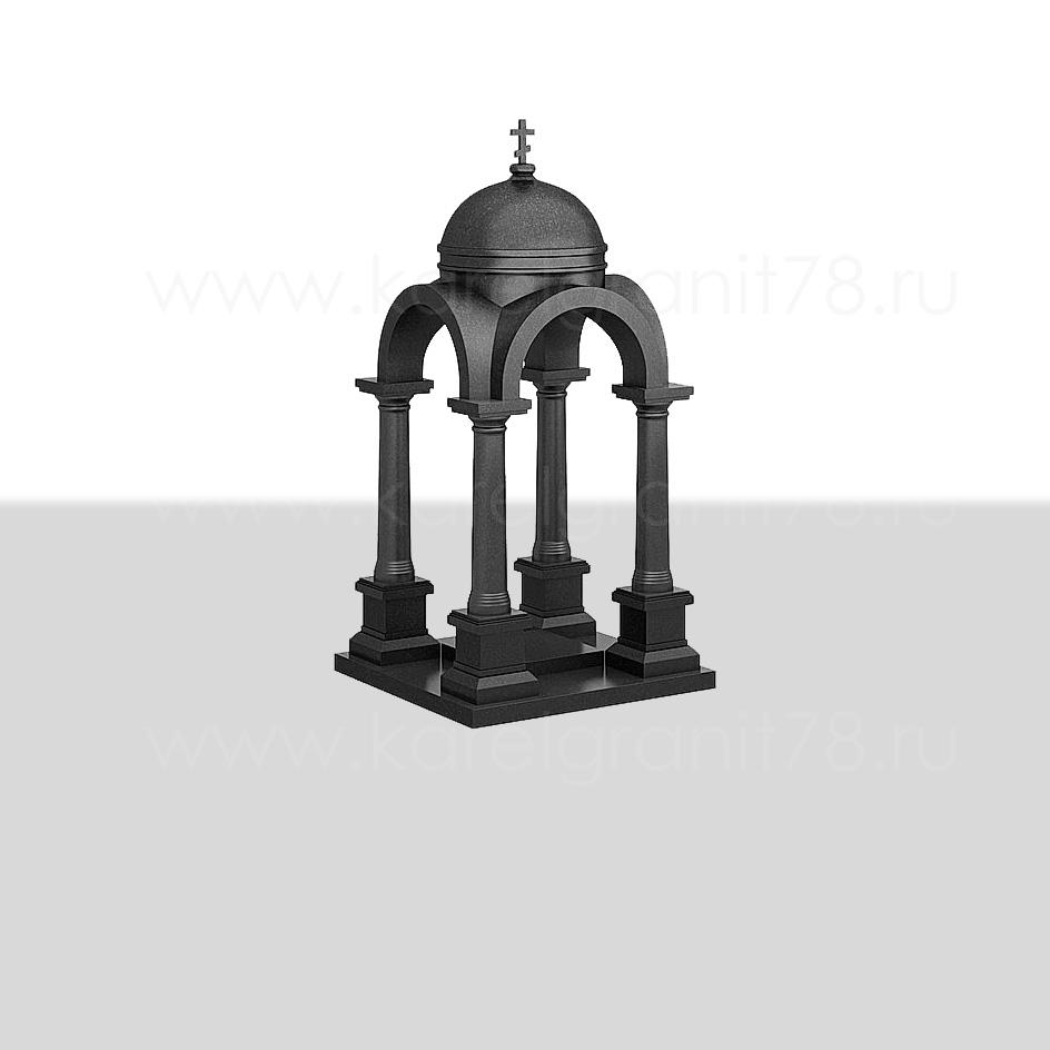 Памятник — большая часовня с куполом, резными арками и колоннами №200