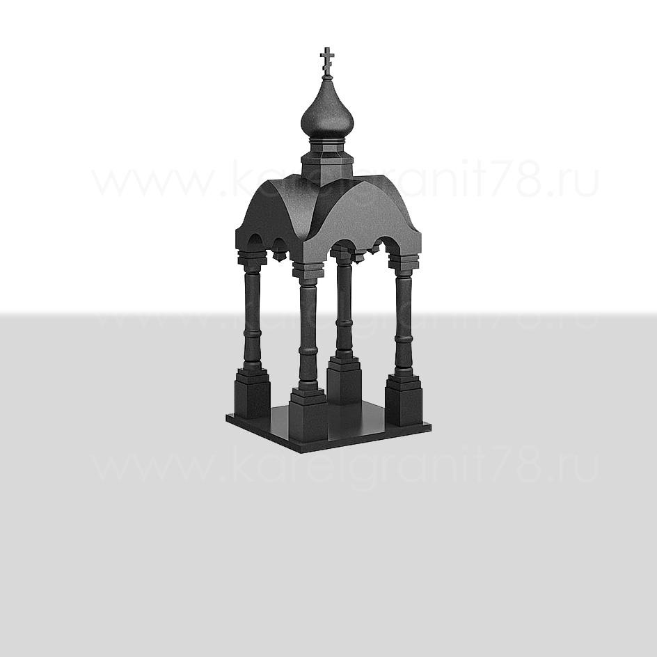 Памятник — малая часовня с куполом, резными арками и колоннами №201