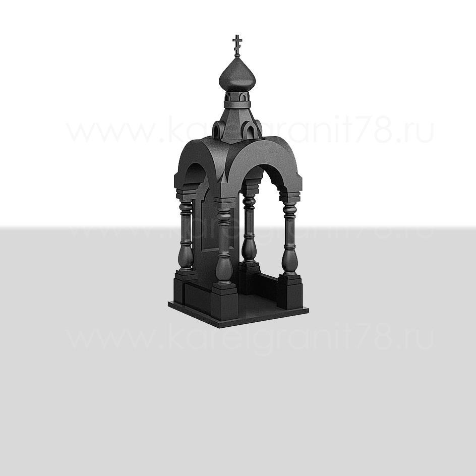 Памятник — средняя часовня с куполом, резными арками и колоннами №202