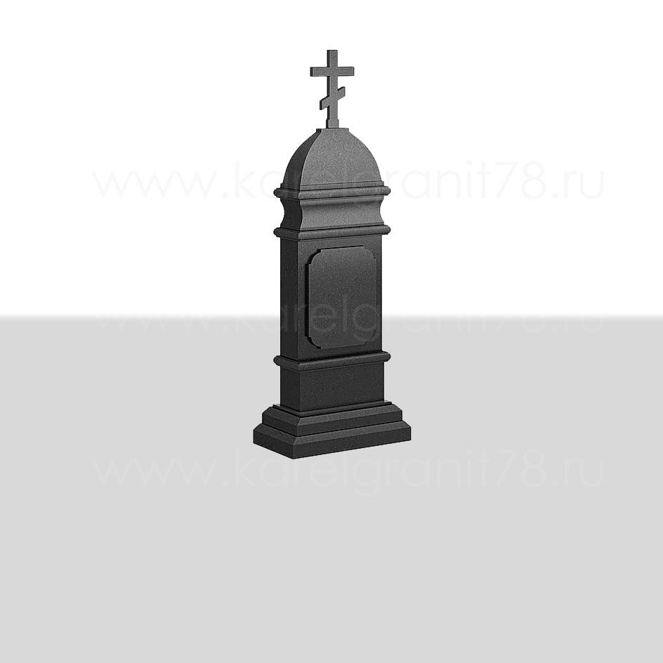 Памятник — часовня 70×40 см с куполом и прямыми гранями №281